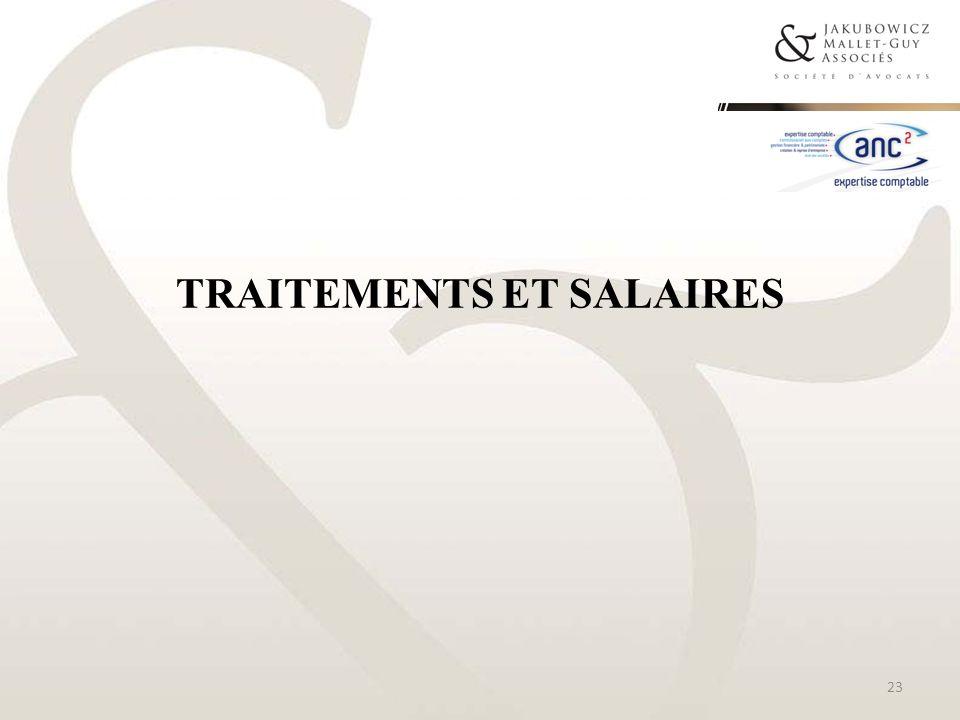 TRAITEMENTS ET SALAIRES 23