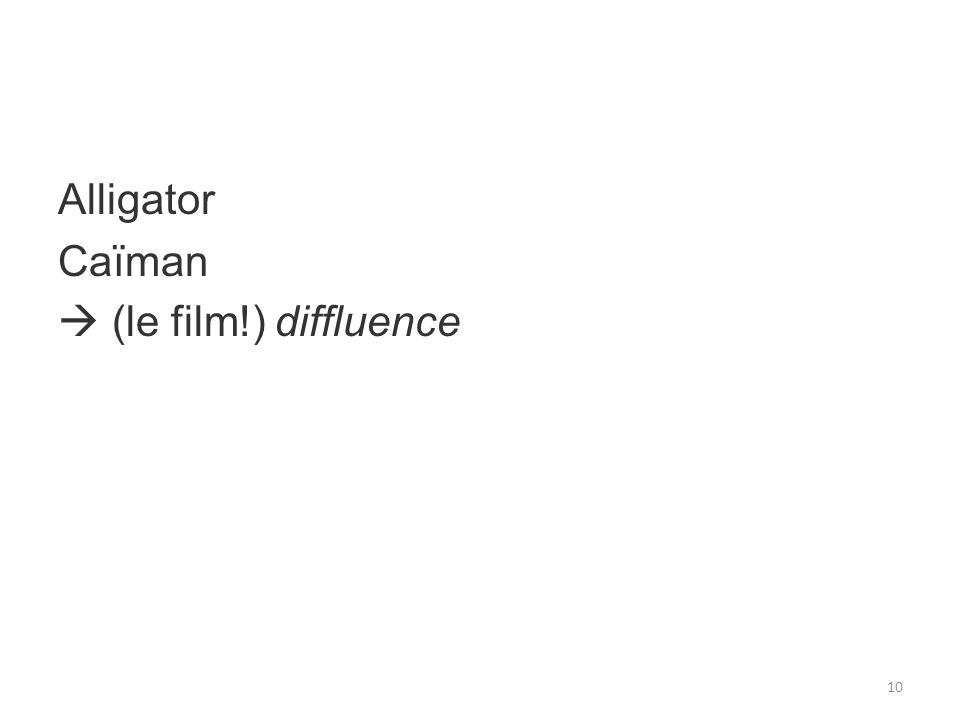 Alligator Caïman (le film!) diffluence 10