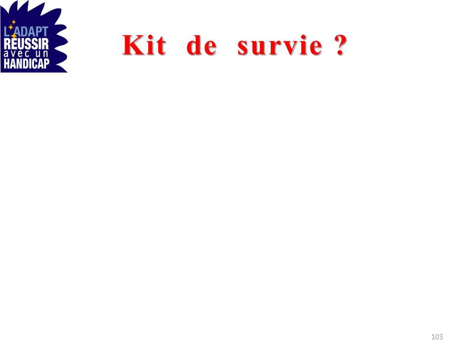 Kit de survie ? 103