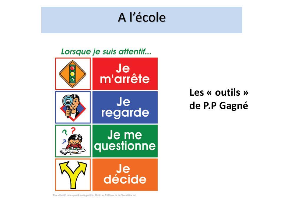 A lécole Les « outils » de P.P Gagné