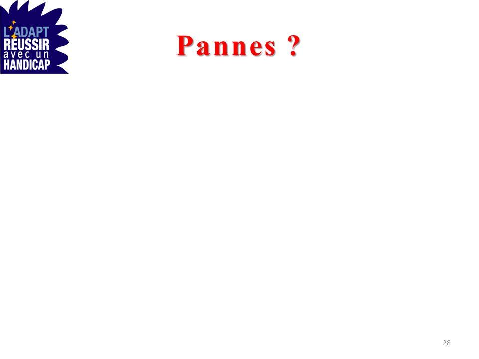 Pannes ? 28