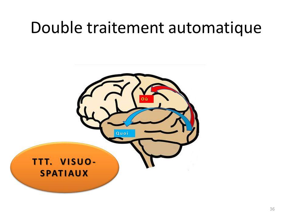 Double traitement automatique TTT. VISUO- SPATIAUX SPATIAUX 36
