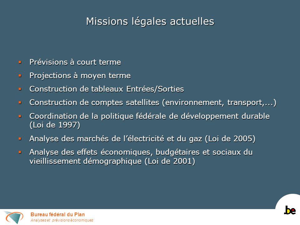 Bureau fédéral du Plan Analyses et prévisions économiques de StudieCommissie voor de Vergrijzing.