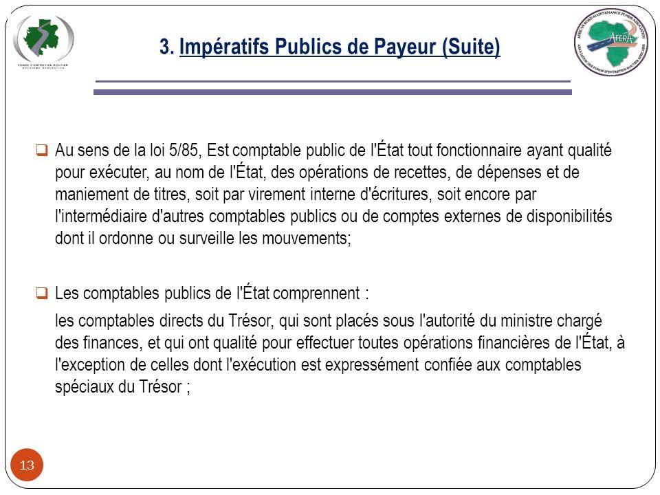 3.Impératifs Publics de Payeur 12 3-1.
