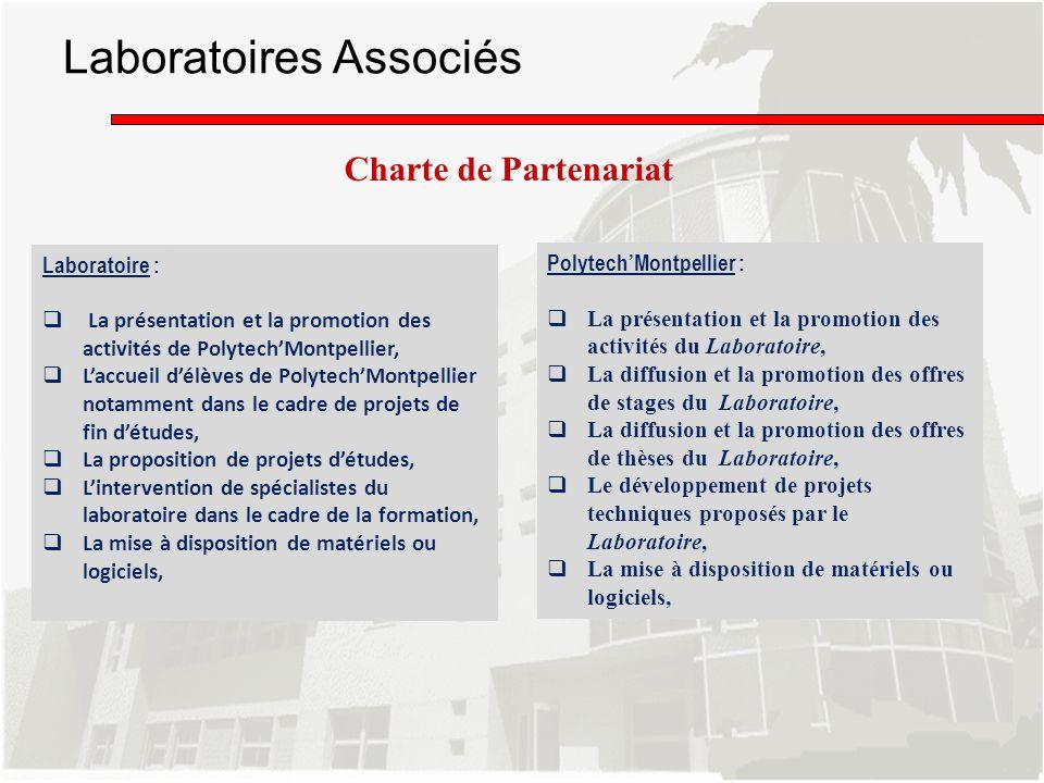 Laboratoires Associés Charte de Partenariat Laboratoire : La présentation et la promotion des activités de PolytechMontpellier, Laccueil délèves de Po