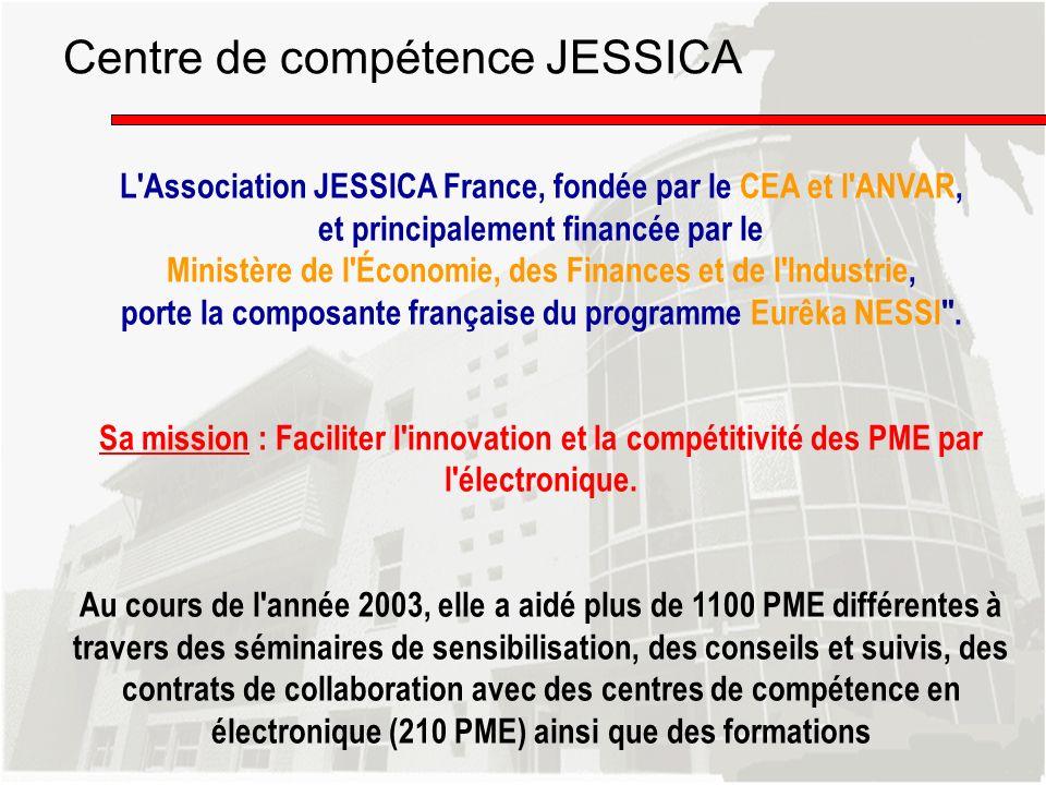 L'Association JESSICA France, fondée par le CEA et l'ANVAR, et principalement financée par le Ministère de l'Économie, des Finances et de l'Industrie,