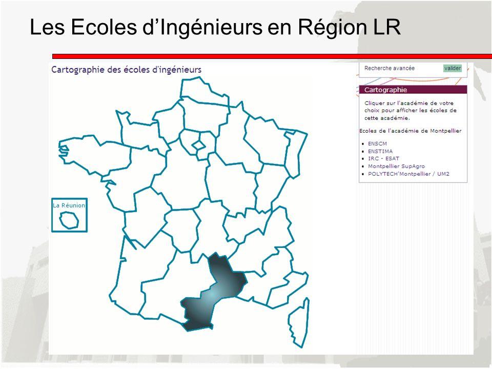 Les Ecoles dIngénieurs en Région LR
