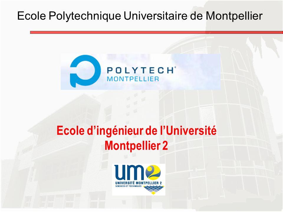 Ecole dingénieur de lUniversité Montpellier 2 Ecole Polytechnique Universitaire de Montpellier