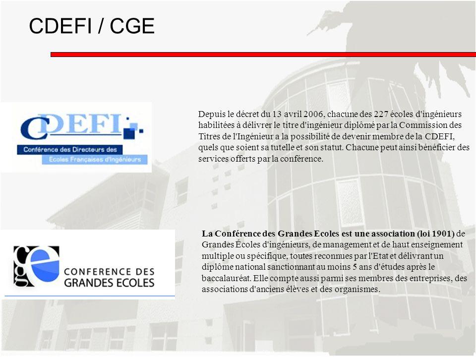 La Conférence des Grandes Ecoles est une association (loi 1901) de Grandes Écoles d'ingénieurs, de management et de haut enseignement multiple ou spéc
