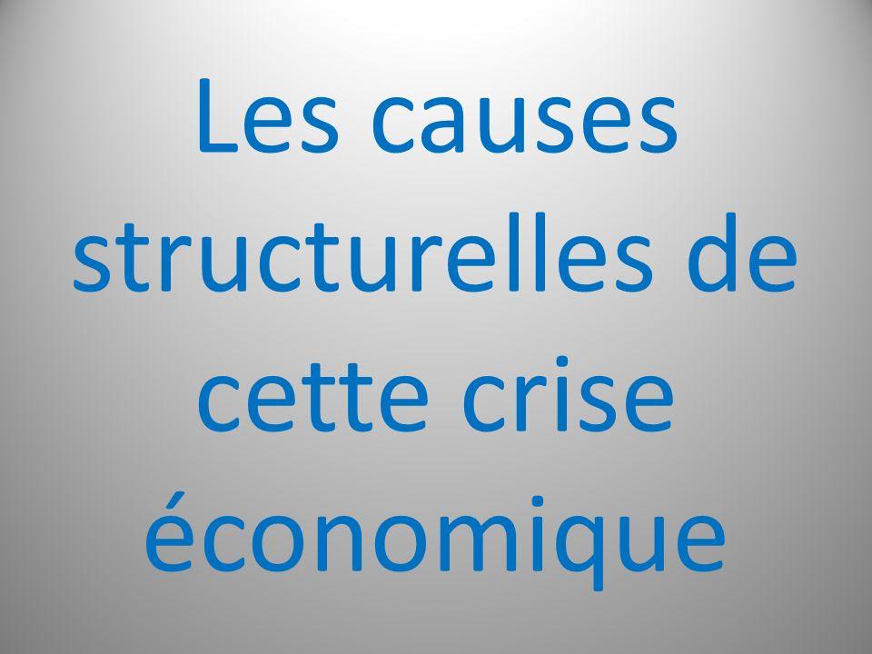 Les causes structurelles de cette crise économique