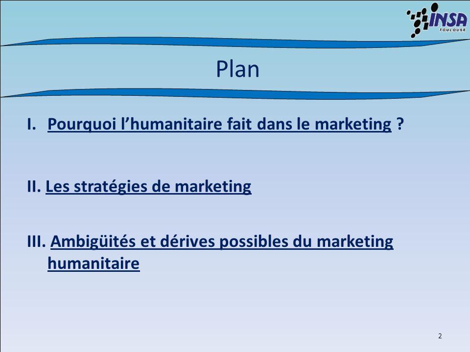 3 I.Pourquoi lhumanitaire fait dans le marketing .