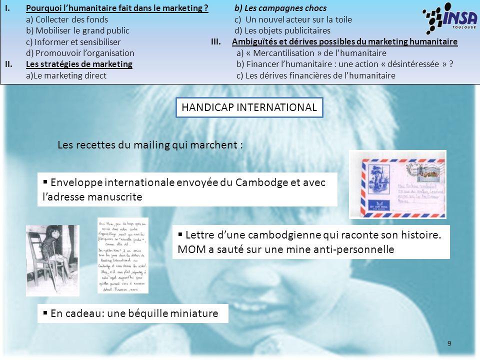 9 Les recettes du mailing qui marchent : Enveloppe internationale envoyée du Cambodge et avec ladresse manuscrite Lettre dune cambodgienne qui raconte