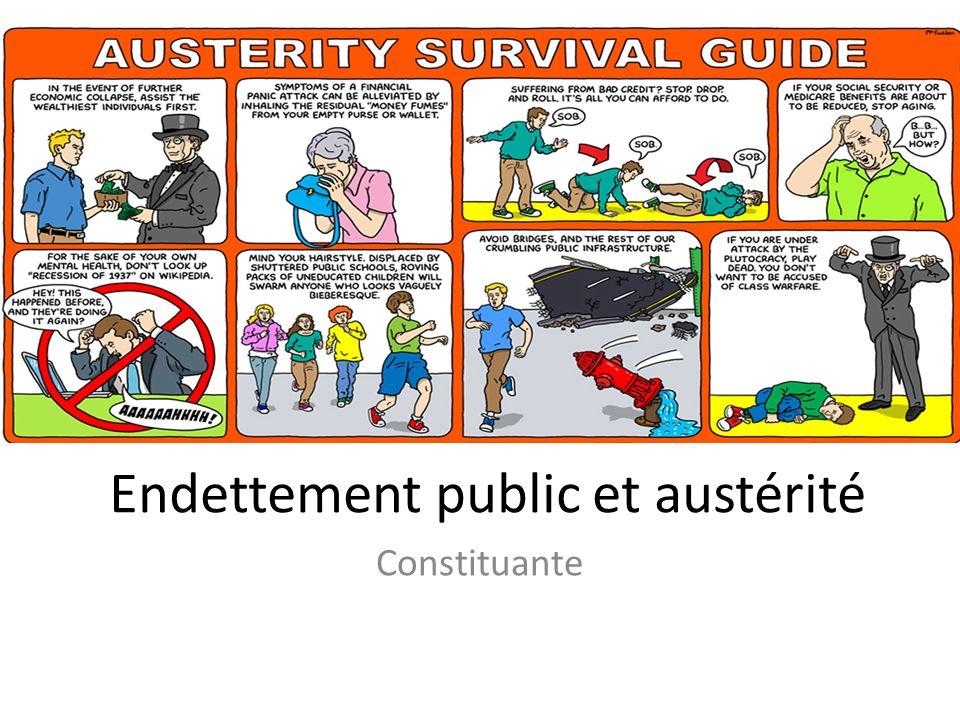 Endettement public et austérité Constituante