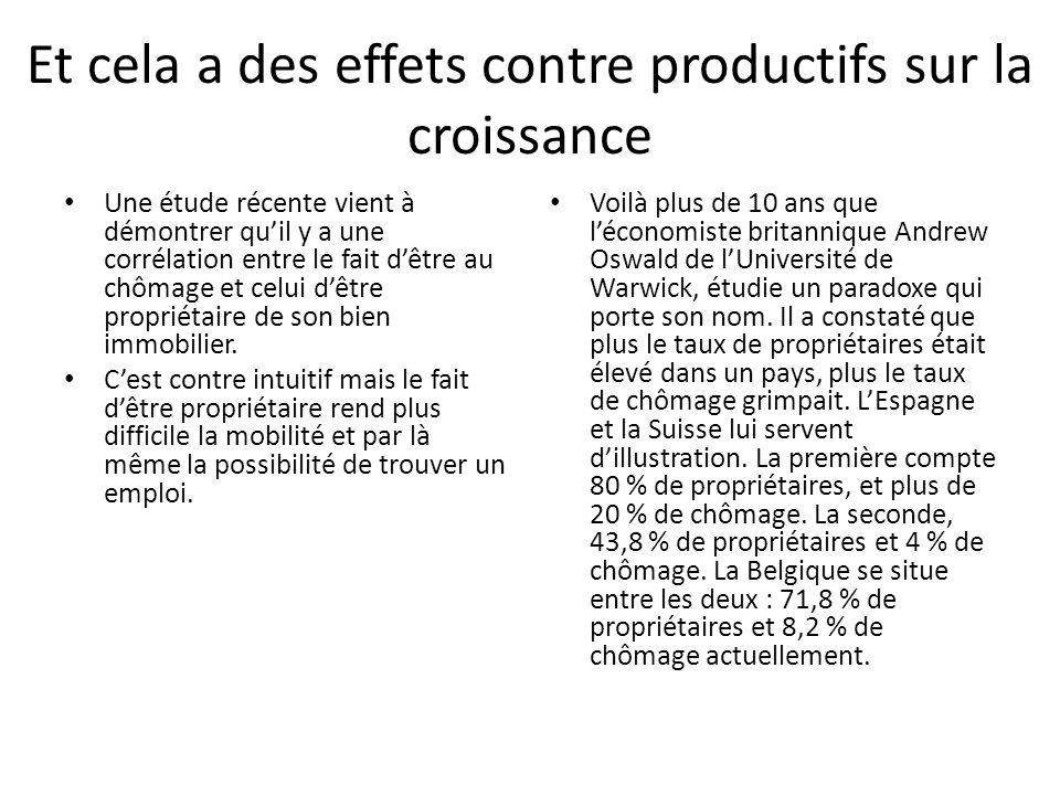 Et cela a des effets contre productifs sur la croissance Une étude récente vient à démontrer quil y a une corrélation entre le fait dêtre au chômage e