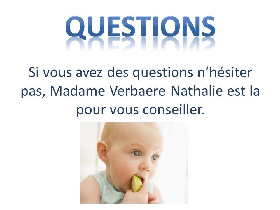 Si vous avez des questions nhésiter pas, Madame Verbaere Nathalie est la pour vous conseiller.