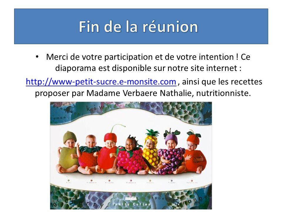Merci de votre participation et de votre intention ! Ce diaporama est disponible sur notre site internet : http://www-petit-sucre.e-monsite.com, ainsi