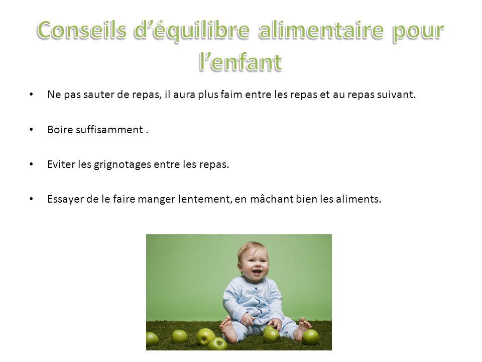 Entre 0 et 6 mois, un enfant n a pas de dent et il devra avoir des plats liquides, crémeux, sans aucun morceau.