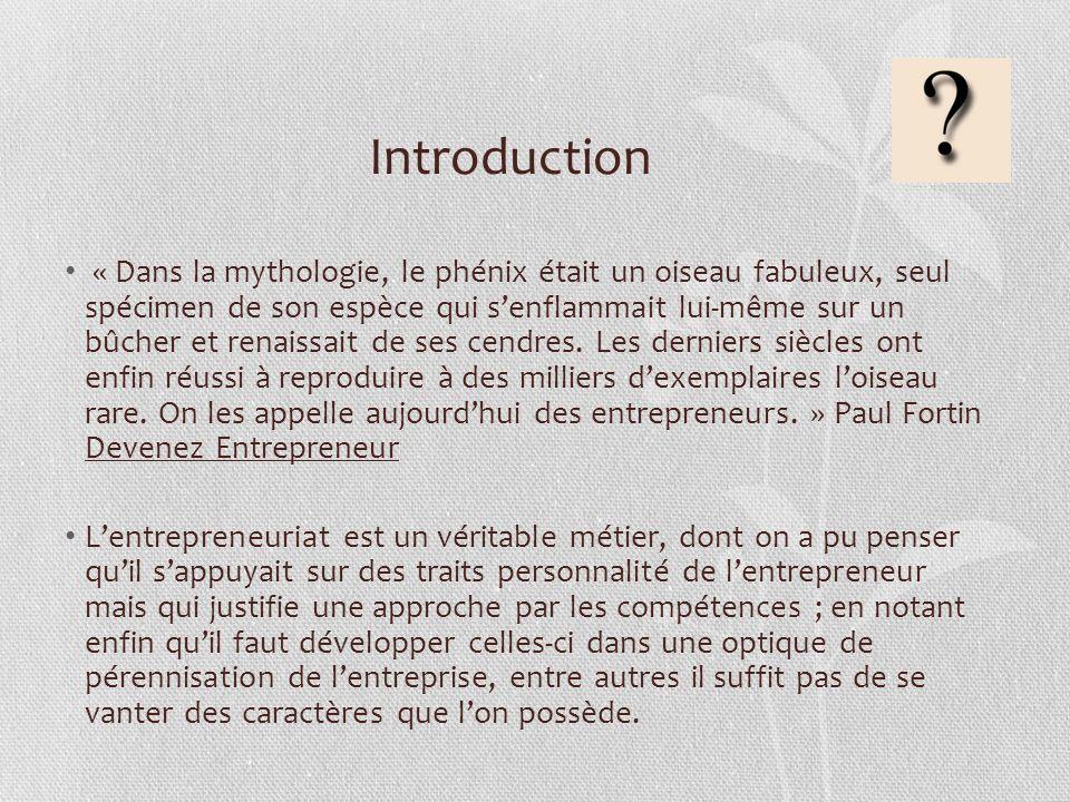 Introduction « Dans la mythologie, le phénix était un oiseau fabuleux, seul spécimen de son espèce qui senflammait lui-même sur un bûcher et renaissai