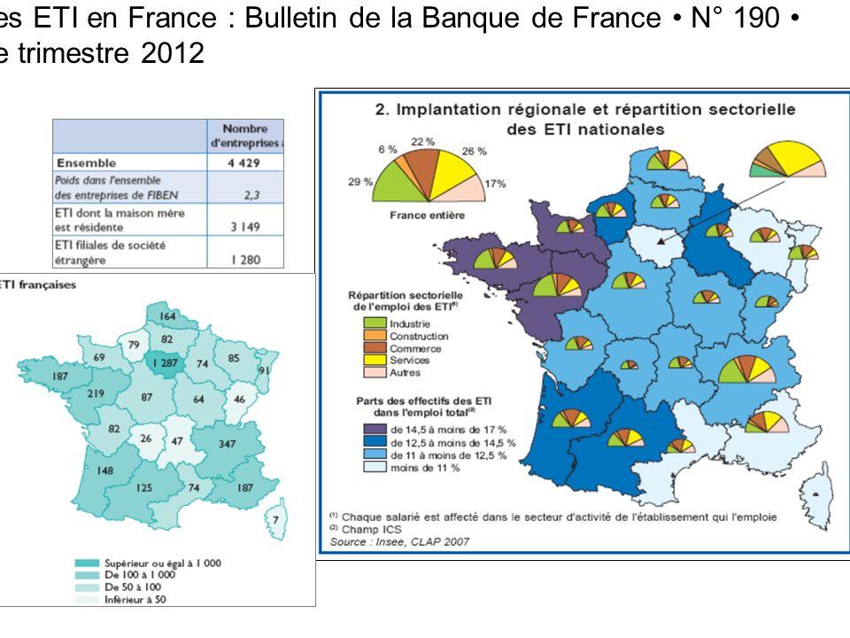 Les ETI en France : Bulletin de la Banque de France N° 190 4e trimestre 2012 3