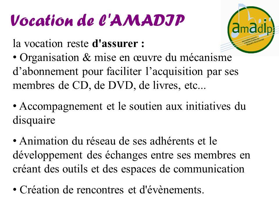 la vocation reste d'assurer : Organisation & mise en œuvre du mécanisme dabonnement pour faciliter lacquisition par ses membres de CD, de DVD, de livr