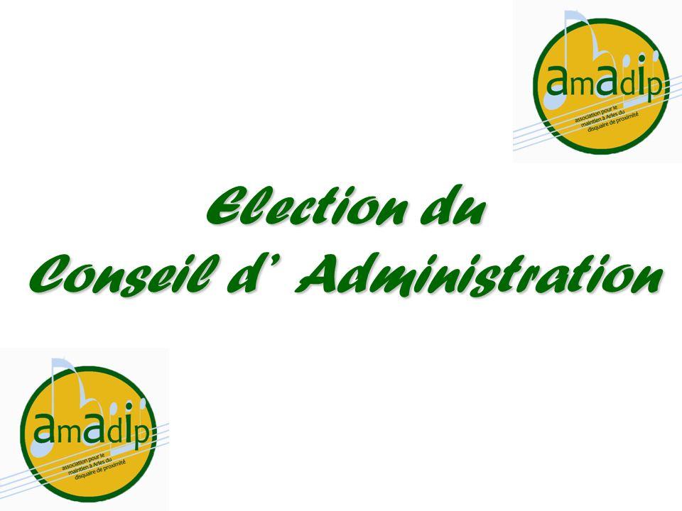 Election du Conseil dAdministration
