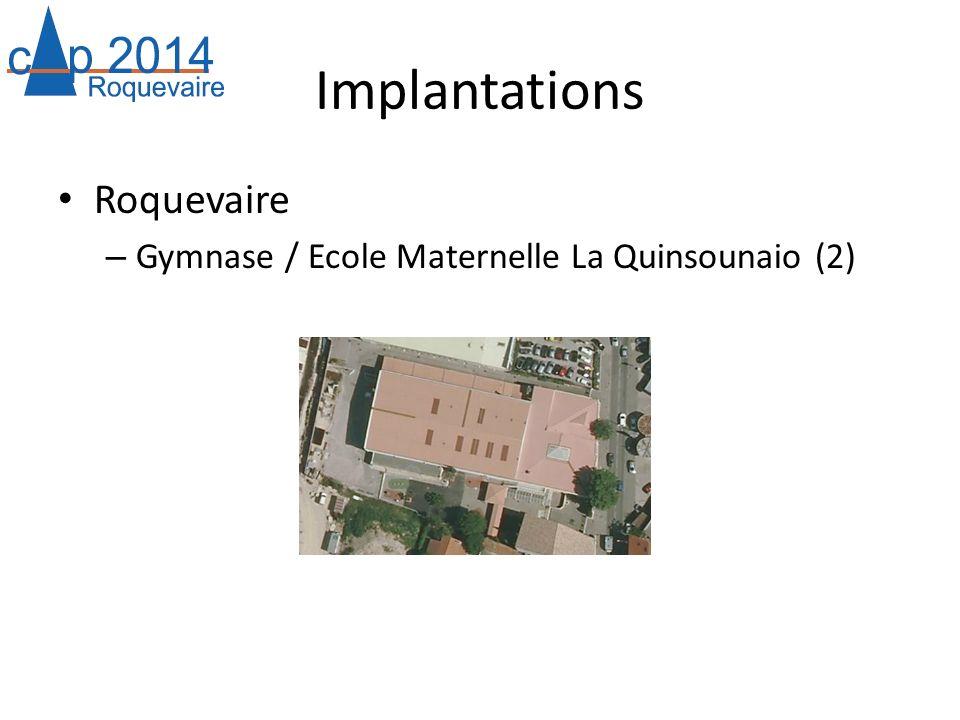 Implantations Roquevaire – Gymnase / Ecole Maternelle La Quinsounaio (2)