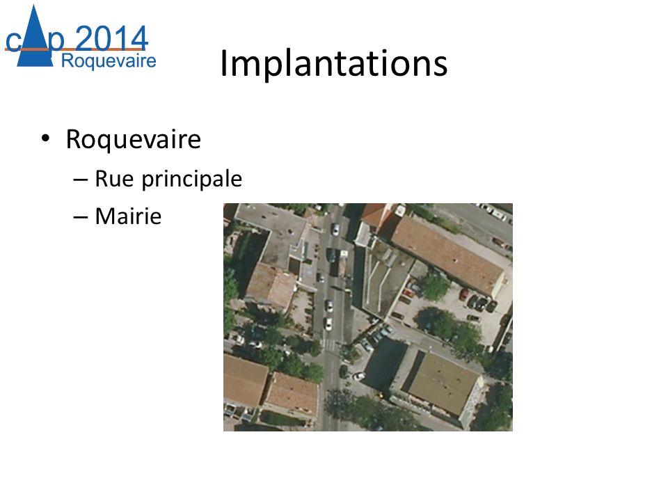 Implantations Roquevaire – Rue principale – Mairie