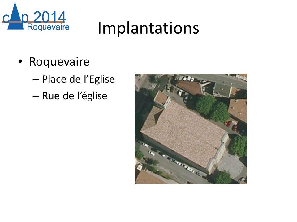 Implantations Roquevaire – Place de lEglise – Rue de léglise