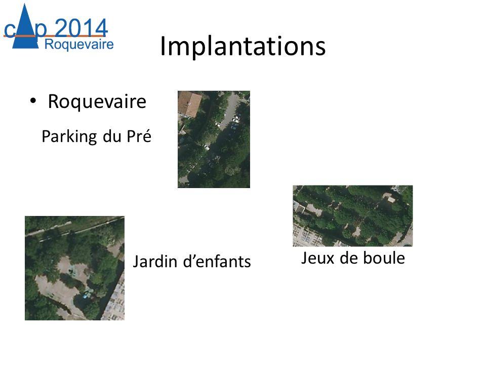 Implantations Roquevaire Parking du Pré Jeux de boule Jardin denfants