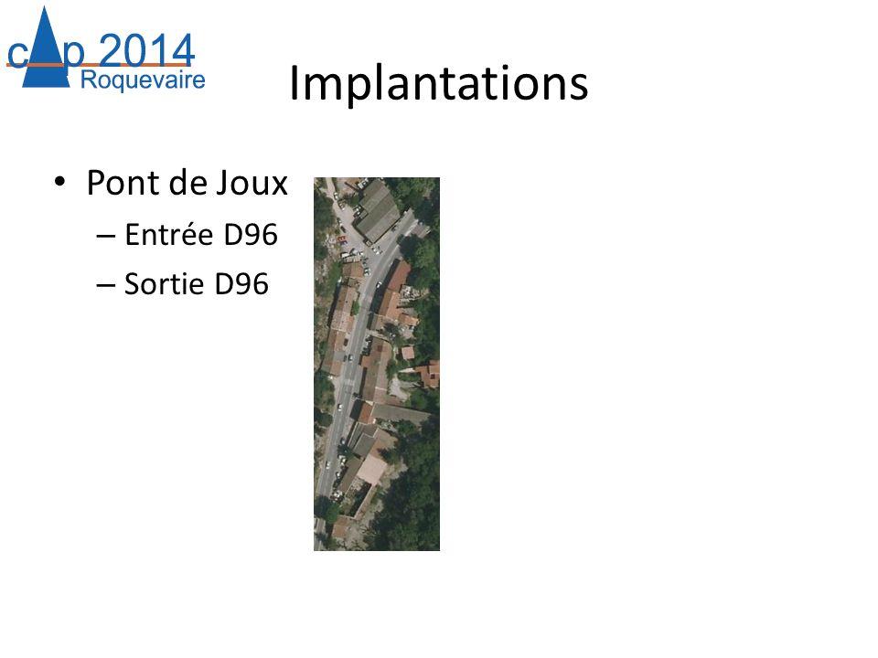 Implantations Pont de Joux – Entrée D96 – Sortie D96