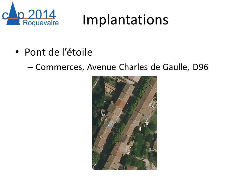 Implantations Pont de létoile – Commerces, Avenue Charles de Gaulle, D96