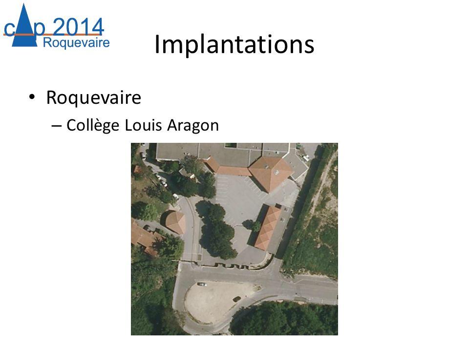 Implantations Roquevaire – Collège Louis Aragon
