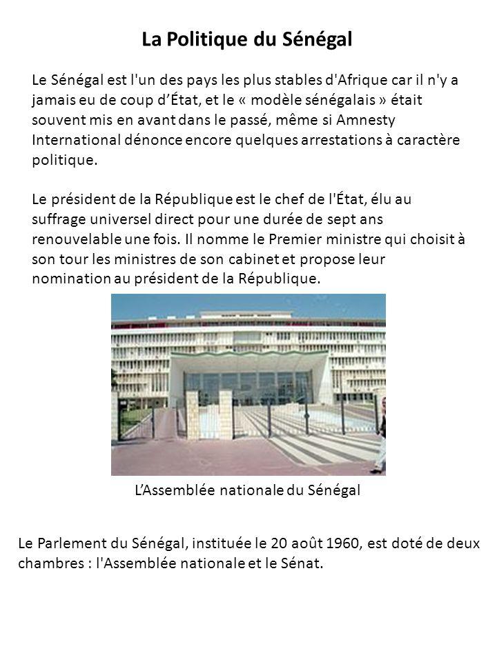 Le Sénégal est l un des pays les plus stables d Afrique car il n y a jamais eu de coup dÉtat, et le « modèle sénégalais » était souvent mis en avant dans le passé, même si Amnesty International dénonce encore quelques arrestations à caractère politique.
