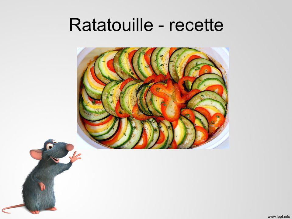 Ratatouille - recette