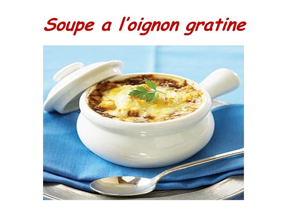 Soupe a loignon gratine