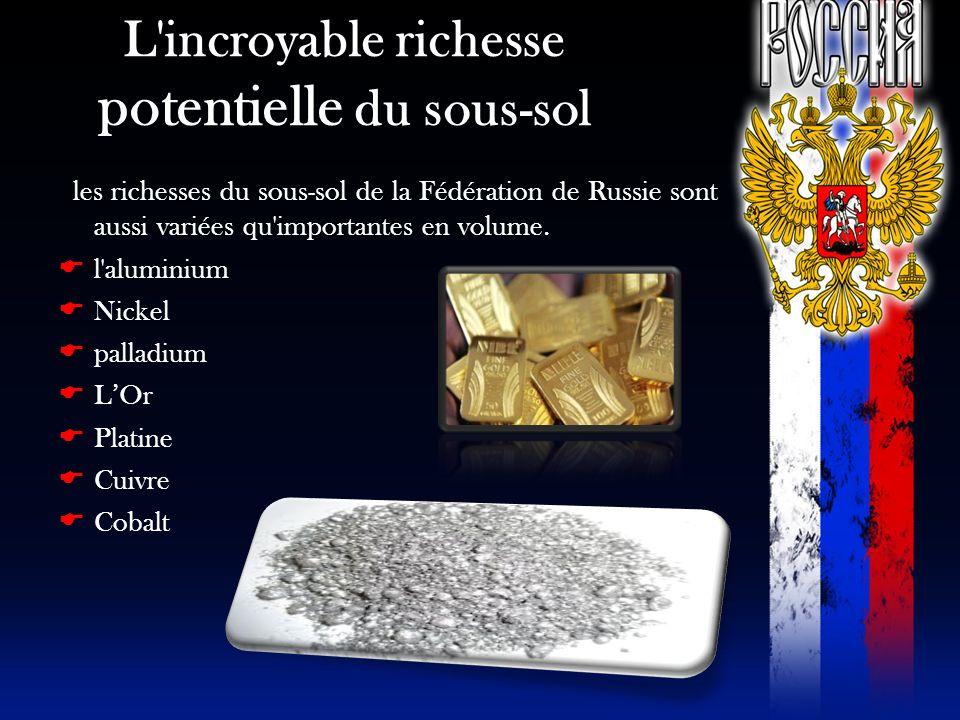 L'incroyable richesse potentielle du sous-sol les richesses du sous-sol de la Fédération de Russie sont aussi variées qu'importantes en volume. l'alum