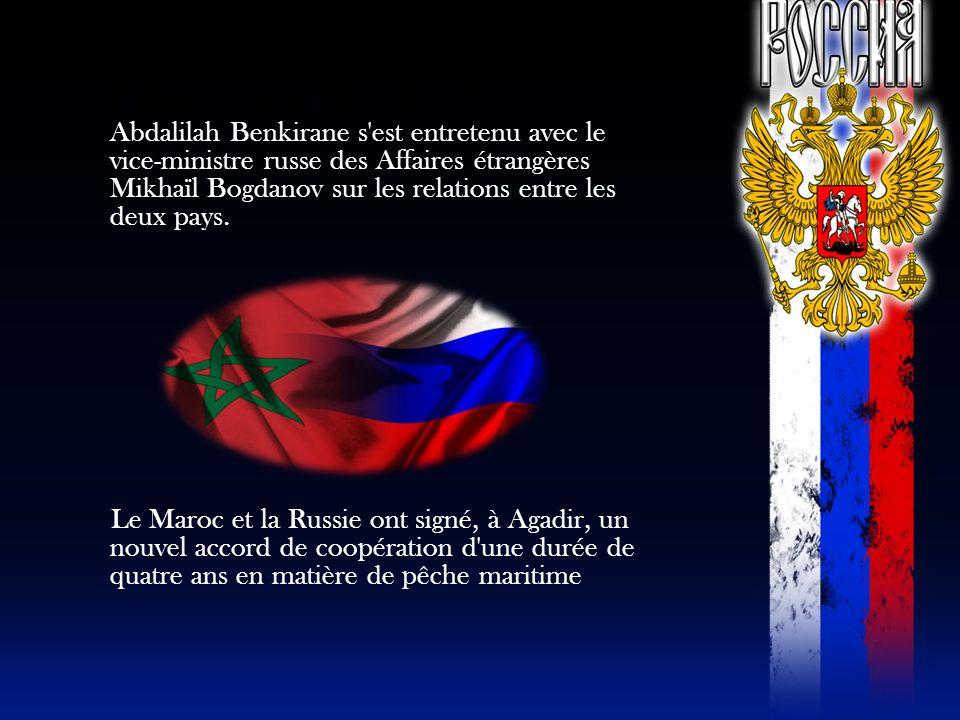 Rabat, 16 mai 2013 (MAP) - Le Abdalilah Benkirane s'est entretenu avec le vice-ministre russe des Affaires étrangères Mikhaïl Bogdanov sur les relatio