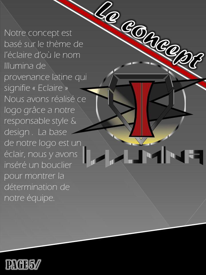 Notre concept est basé sur le thème de léclaire doù le nom Illumina de provenance latine qui signifie « Eclaire » Nous avons réalisé ce logo grâce a notre responsable style & design.