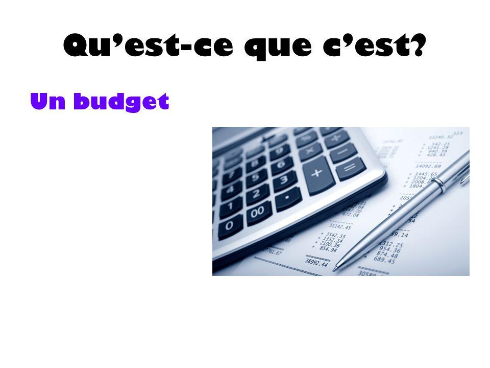 Quest-ce que cest Un budget
