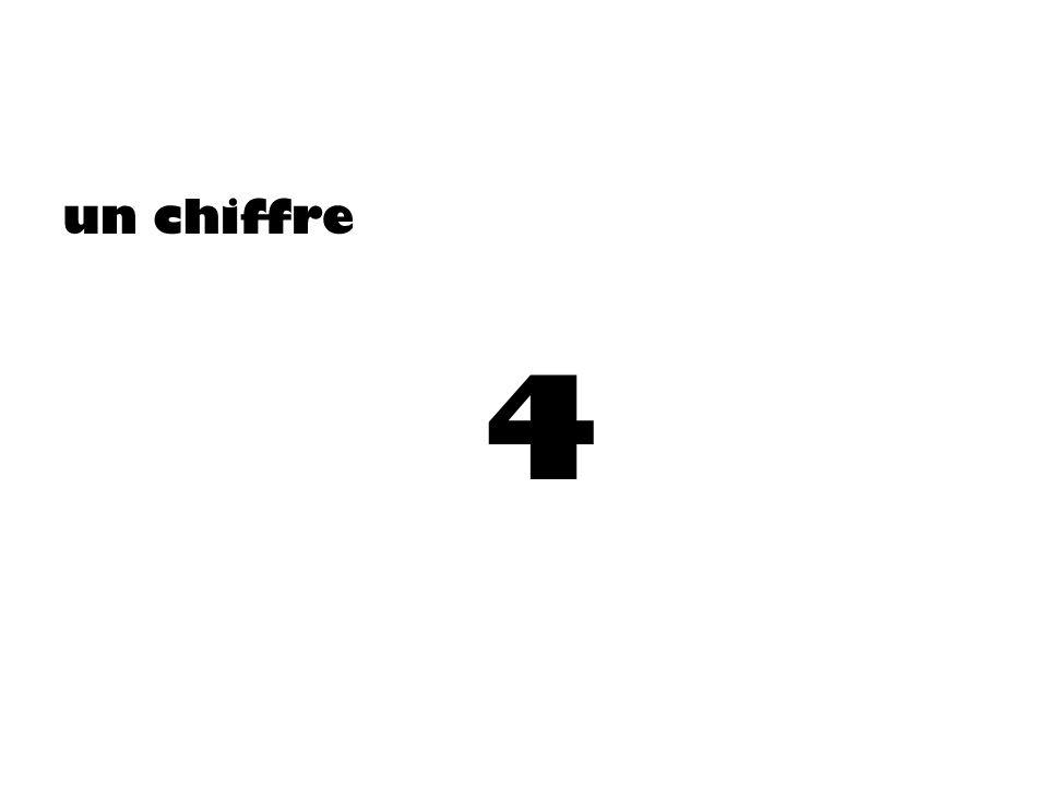 un chiffre 4