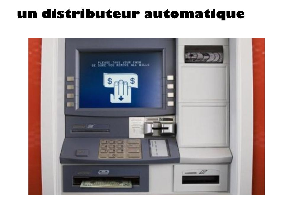un distributeur automatique