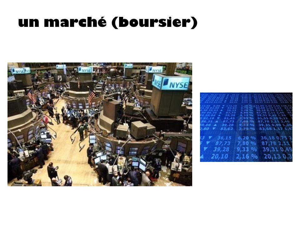 un marché (boursier)