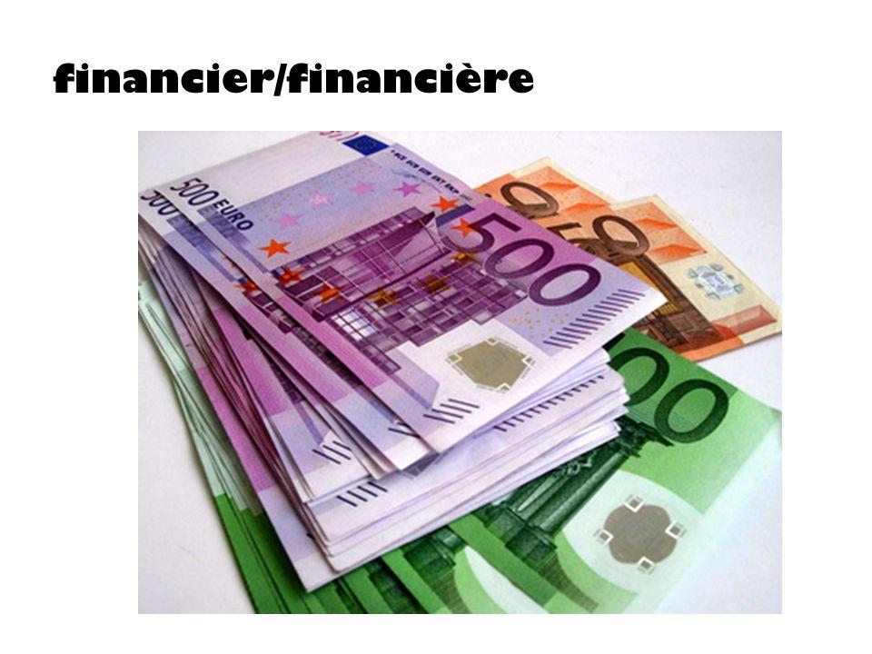 financier/financière