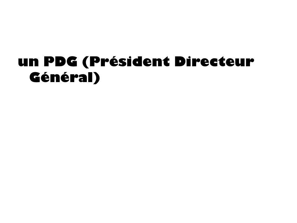 un PDG (Président Directeur Général)