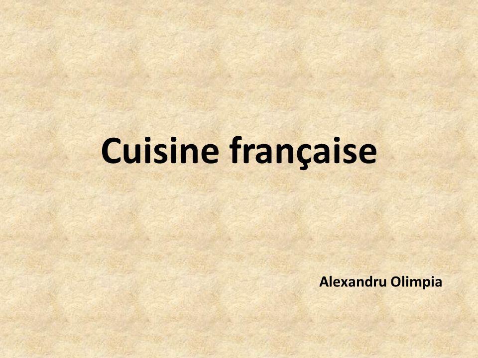 Cuisine française Alexandru Olimpia