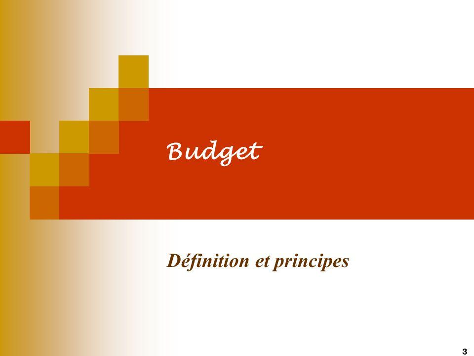 3 Budget Définition et principes