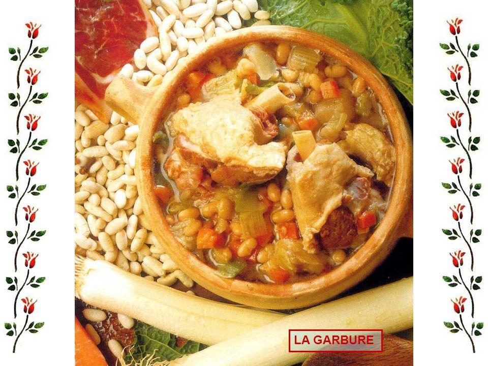 Les recettes La garbure La poule au pot dHenri IV Salade de magrets de canards Omelette aux cèpes Truites Darnes de saumon sauce béarnaise Fricassée d