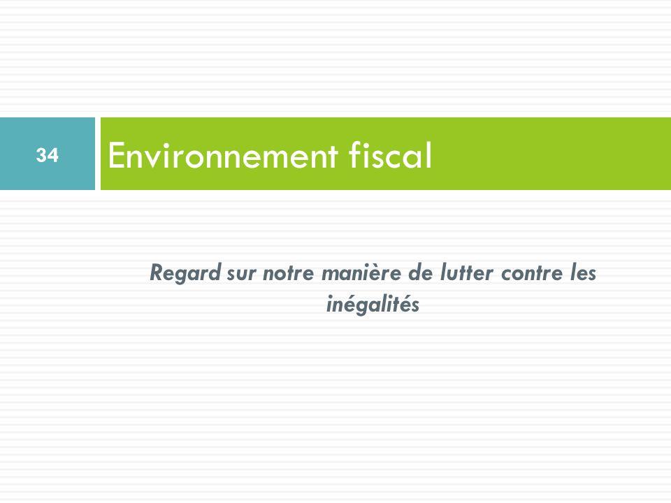 Environnement fiscal 34 Regard sur notre manière de lutter contre les inégalités