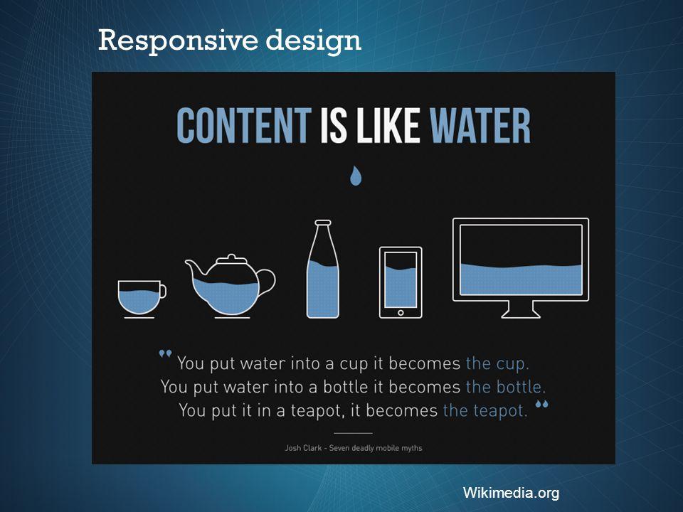 Wikimedia.org Responsive design