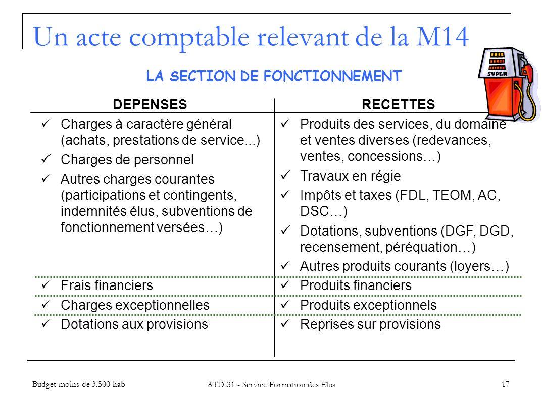 17 LA SECTION DE FONCTIONNEMENT DEPENSES Charges à caractère général (achats, prestations de service...) Charges de personnel Autres charges courantes